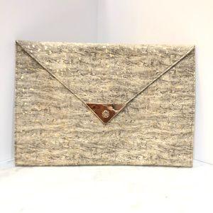 NWT Nila Anthony flat envelope clutch Grey
